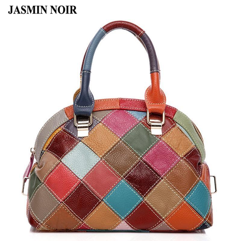 Torba kobieca znane marki projektant prawdziwe torebki ze skóry wołowej 2017 moda luksusowe wysokiej jakości powłoki crossbody torby na ramię w Torby z uchwytem od Bagaże i torby na  Grupa 1