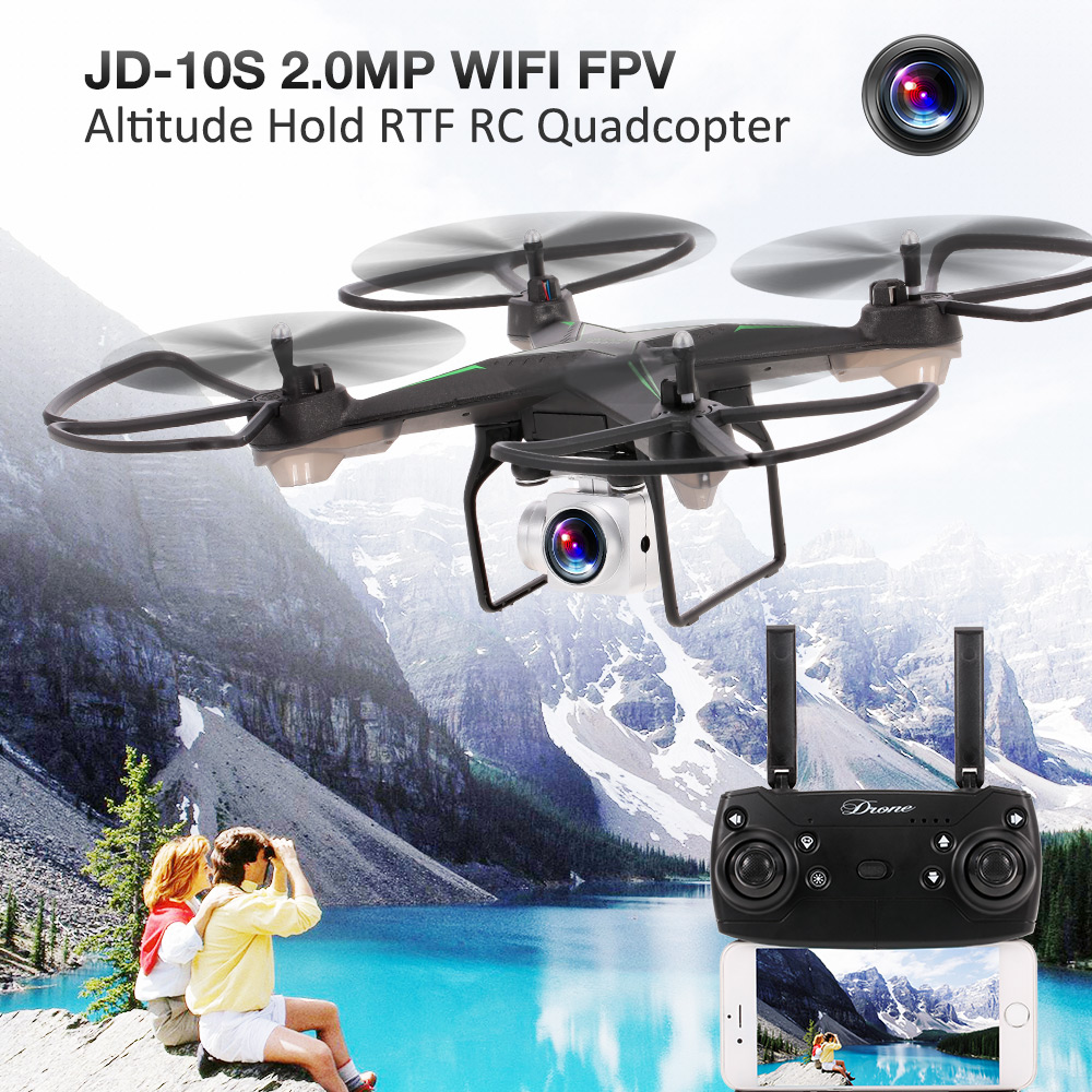 RC Dron JD-10S 2.0MP Wide Angle WIFI FPV Altitude Hold RTF RC Quadcopter RC Drone with Camera jdrc jd 10s jd10s wifi fpv rc drone quadcopter with 2mp wide angle hd camera altitude hold 6 axis one key to return rtf rc toys