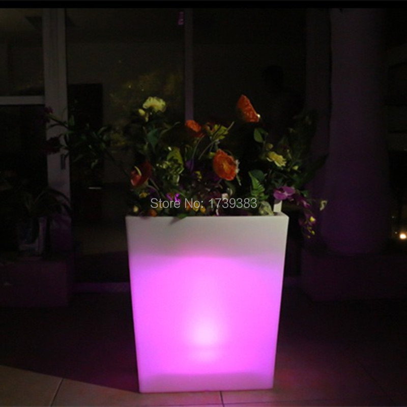 где купить Outdoor Waterproof  16colors illuminated Y-POT Large Planter Flower Floor BoughPot remote control LED Flower pot ice bucket по лучшей цене