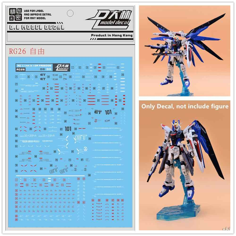 D L High Quality Decal Water Paste Rg26 For Bandai Rg 1 144 Zgmf X10a Freedom Gundam Dl142 Action Figures Aliexpress