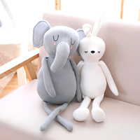 Long Legs Elephant And Rabbit Plush Animals Soft Toys 60cm Big Stuffed Animal Dolls Kids Children