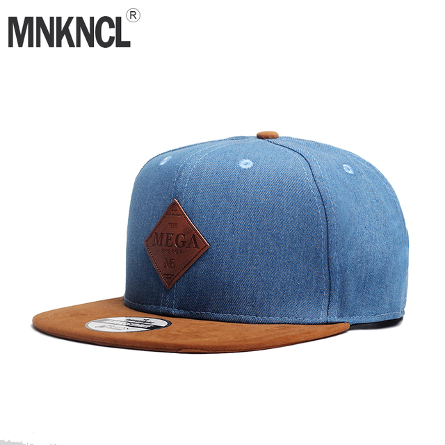 d019b0f33cc MNKNCL High Quality Snapback Cap MEGA Embroidery Brand Flat Brim Baseball  Cap Youth Hip Hop Cap and Hat For Men and Woman