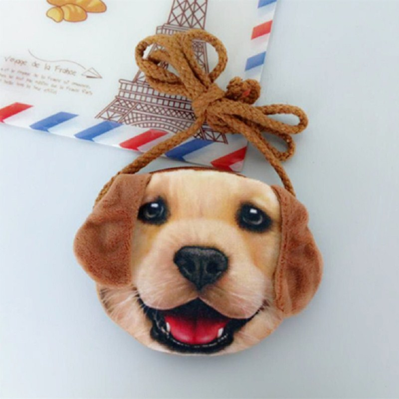 Fashion Kid Bag 3D Animal Creative Fabric Coin Purse Student Cartoon Coin Bag Children Package Mini Bag