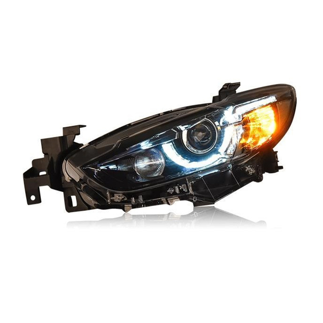 Para Auto Side Turn Signal Drl Led Assembly Cob Assessoires Parts Car Lighting Headlights Rear Lights For Mazda Atenza