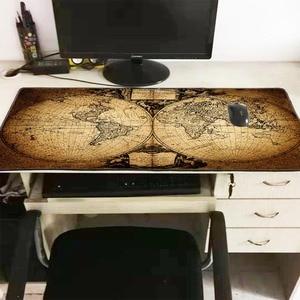 Image 3 - Mairuige ישן מפת העולם גדול משחקי מנעול קצה מחצלת עכבר מקלדת משטח שולחן מחצלת שולחן מחצלת גיימר משטח עכבר מחשב נייד מחברת Lol