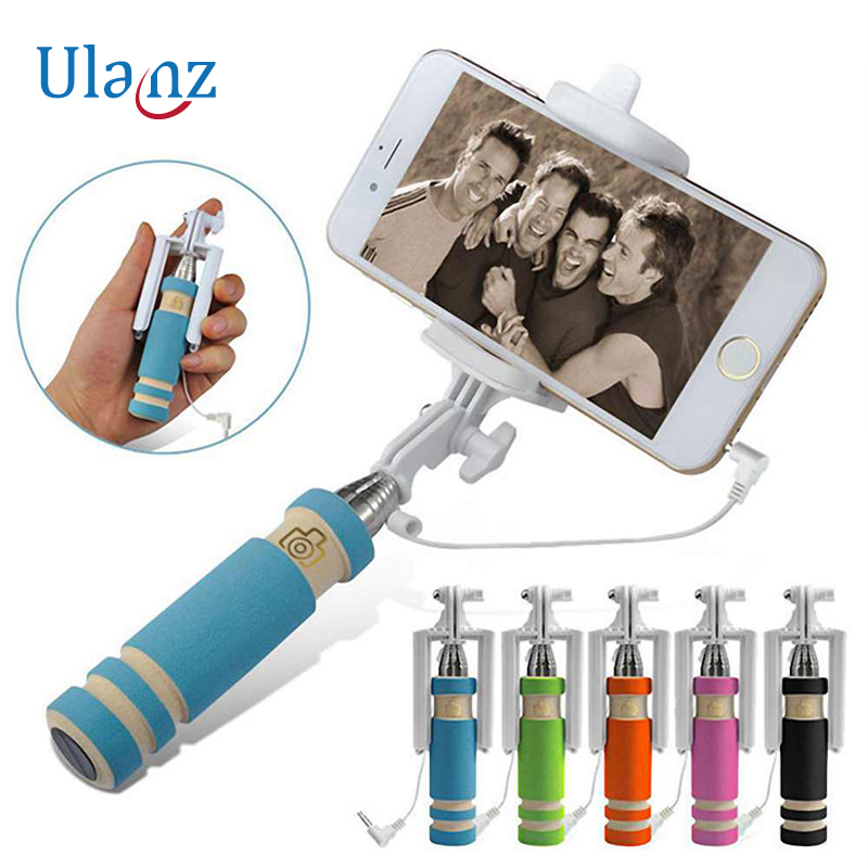 Mini Handheld Selfie Stick Monopod Camera for iPhone 6/6 plus iPhone 5 5s SE iOS for Samsung XIAOMI HUAWEI Android Smartphone led flash fill light selfie stick lighting bluetooth monopod with rear mirror for iphone 7 6 6s plus 5 5s se 4 4s android phones