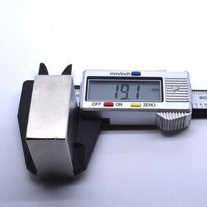 Image 5 - Неодимовый магнит, 2 шт., 40x40x20 мм, металлический Галлий, суперпрочные магниты 40*40*20, квадратный неодимио, мощный постоянный магнит