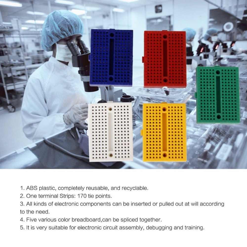 SYB-170 Mini couleur sans soudure Prototype platine de prototypage Protoboard PCB carte de Test de Circuit universel outils de bricolage planche à pain réutilisable