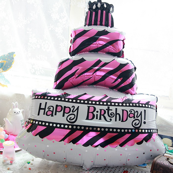Big Happy Birthday Cake Balloons Foil Balloon Birthday Decoration