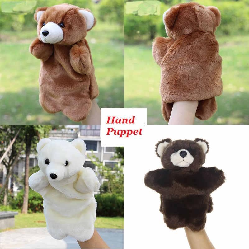 จำลองสัตว์หมีแพนด้าหมูสุนัขหุ่นมือตุ๊กตา Plush Pup Handpop ตุ๊กตาการเรียนรู้การศึกษาของเล่น Marionetas