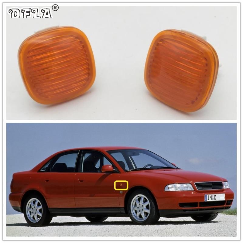 2pcs For Audi A4 Avant 1995 1996 1997 1998 1999 Car-Styling Side Marker Turn Signal Light Lamp Repeater 2pcs for vw sharan 2001 2002 2003 2004 2005 car styling side marker turn signal light lamp repeater