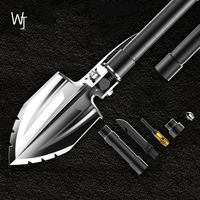 Outdoor Multi function Belt Shovel Head Engineer Military Shovel Field Camping Survival Tool Garden Tools Folding Set