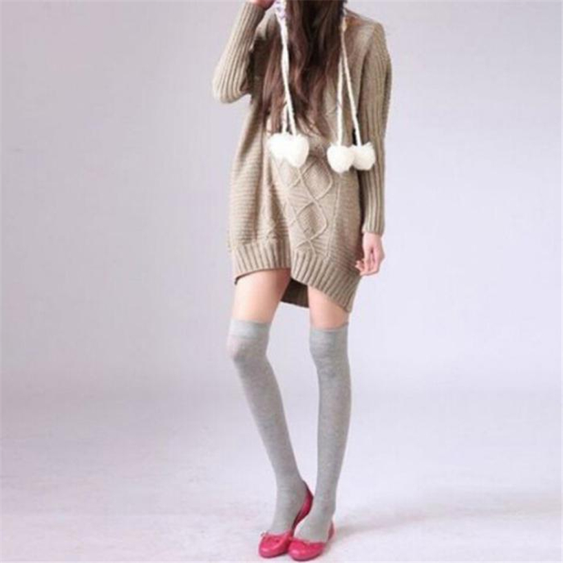 Women Sexy Thigh High Over The Knee Socks Long Cotton Stockings knee high women