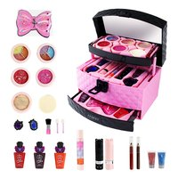 Children Princess Makeup Toys Girls Pretend Play Cosmetics Kit Kids Eyeshadow Lip Gloss Blushes Environmental Fun Toy Gift