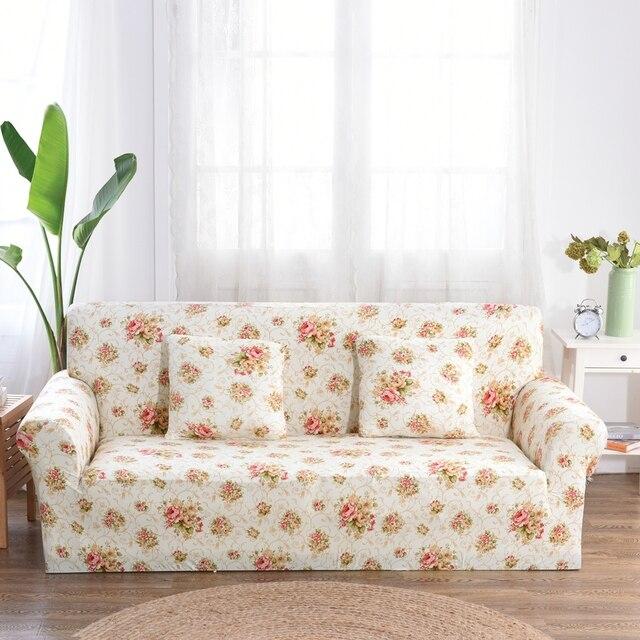 aliexpress.com : acquista fiori di stampa divano divano covers 1/2 ... - Divano Soggiorno Ad Angolo 2