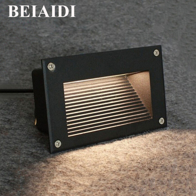 Beiaidi 6pcs 3w outdoor waterproof led stair step light recessed beiaidi 6pcs 3w outdoor waterproof led stair step light recessed wall corner light led footlight landscape aloadofball Images