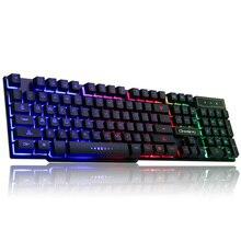 LOIOG подсветка игры Клавиатура компьютер настольный офис свет реальные механические чувствовать ноутбук дома USB кабель клавиатуры