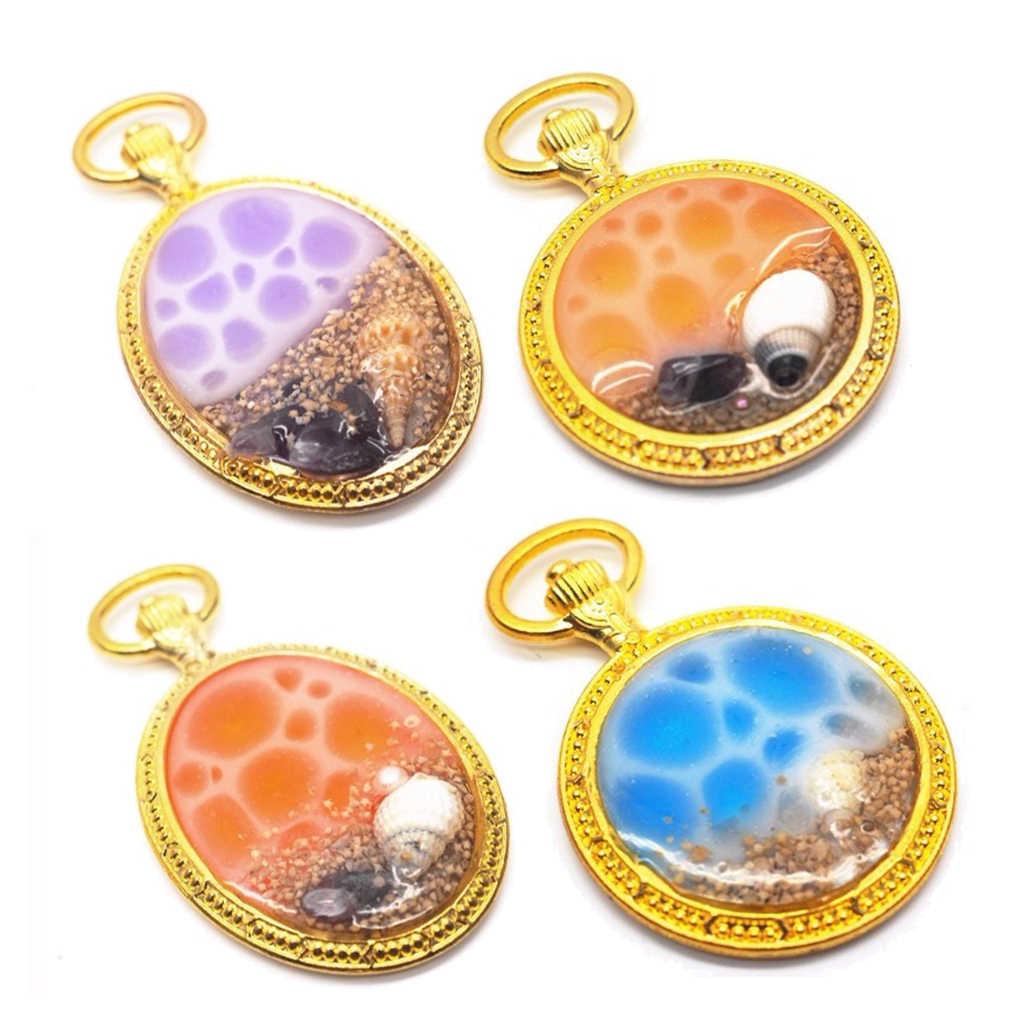 Areia natural da estrela do mar do seashell da praia para os recheios uv da resina moldam a fatura da joia