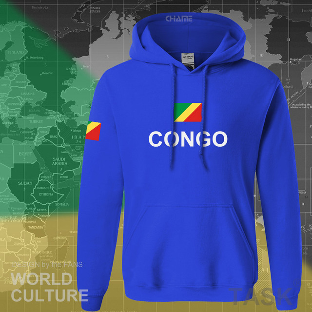 Congo Republic hoodie men sweatshirt sweat new hip hop streetwear tracksuit nation footballer sporting country COG Congolese 2