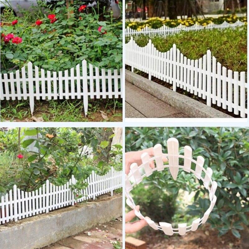 comprar x cm plstico vallas vallas barandilla blanca estilo europeo pas insertar suelo para jardn patio decoracin de fcil montaje