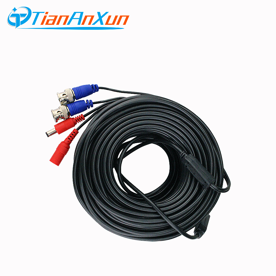 Tiananxun Video Cables Dc Power Bnc Cable For Cctv Cameras Ahd Analog Wired Surveillance Dvr System Accessories