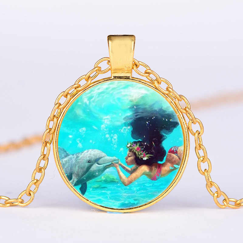 Disney cartoon Moana Children necklace doll clothes charms accessories girl kid birthday gift children day cosmetic beauty toy