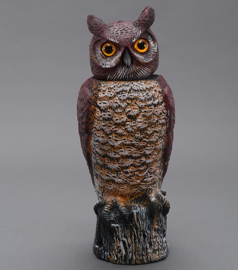ЗИЛИН пластична ротирајућа глава сова украс / ветар акција сова децои 18 * 19 * 46 цм, творнички отвор