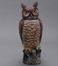 ZILIN Plastic rotating head owl decoy wind action owl decoy 18 19 46 cm factory outlet
