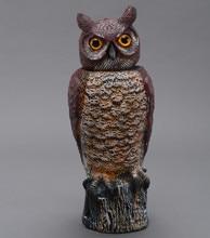 ZILIN Plastic rotating head owl decoy / wind action owl decoy 18*19*46 cm factory outlet