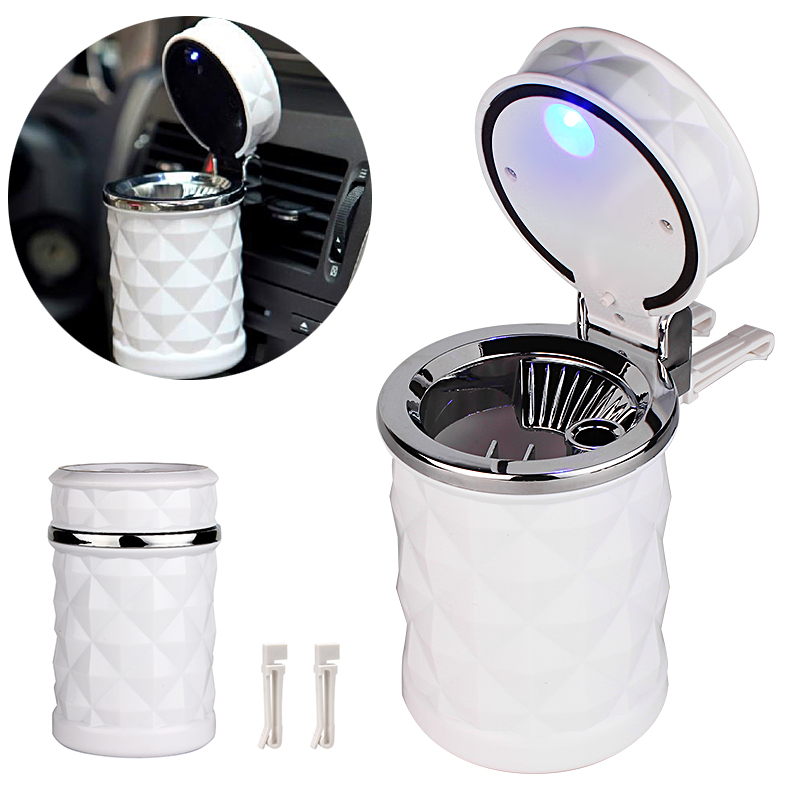 Top Grade Led Cigar Car Ashtray Cup for golf for Audi A4 Automobile Cigarette Ashtray Holder with Car Air Vent Mount Clip