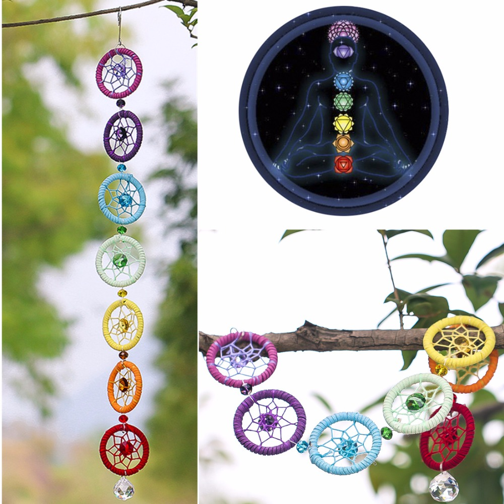 Dream Catcher Hanging-Decoration Car-Party-Nautical Wall Chakra-Muladhar Colorful Ornament