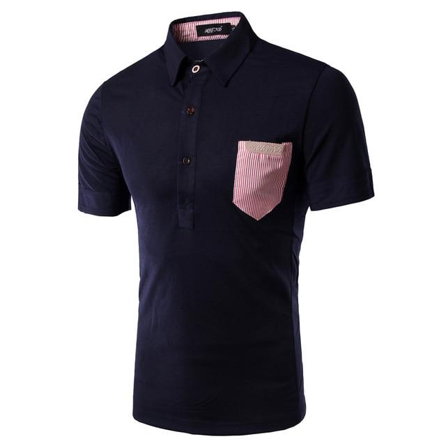 Нью-поло Homme рубашки поло 2016 мужская мода сплошной цвет с коротким рукавом рубашка поло бренды свободного покроя уменьшают подходящие поло