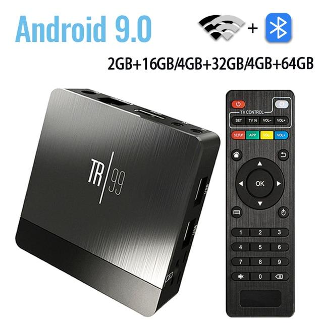 Android 9.0 Amlogic S905X2 TIVI BOX Thông Minh Điều Khiển Giọng Nói 4 GB 32 GB 64 GB LPDDR4 2.4G & 5 GHz Wifi BT 3D 4 K Set Top Box