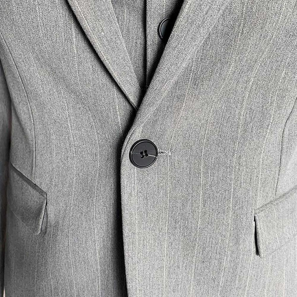 Fshion 新郎ストライプタキシード新スタイルハンサムメンズは花婿の付添人男性ウェディングドレス男ジャケットブレザースーツレジャーウェア