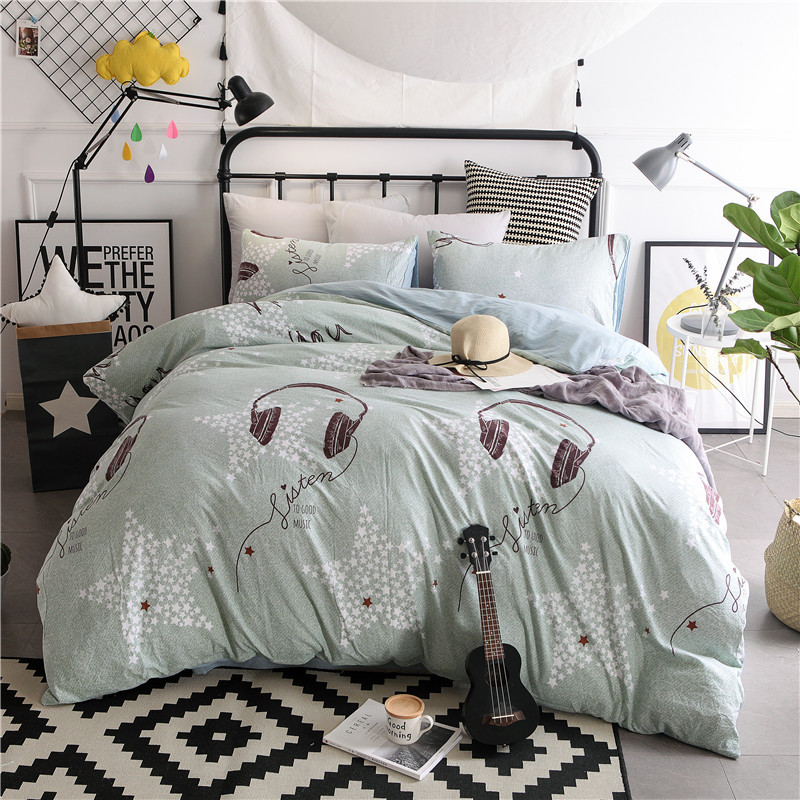 Home Textile Bedding Set soft Lovely cartoon Bear Pink Piglet childrens room 4pcs Duvet Cover Sets Bed sheet pillowcase