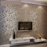 Venta al por mayor Europea 3d rollos del papel pintado papel de parede no tejido purpurina de oro a rayas pared del rollo de papel 3d revestimientos de paredes