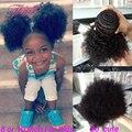 Две Связки Только Бразильские Афро Кудрявый Вьющиеся Волосы Девственные Странный Вьющиеся для Ребенка И Детей Короткие Волосы Афро Кудри Человека Bundle Предложения