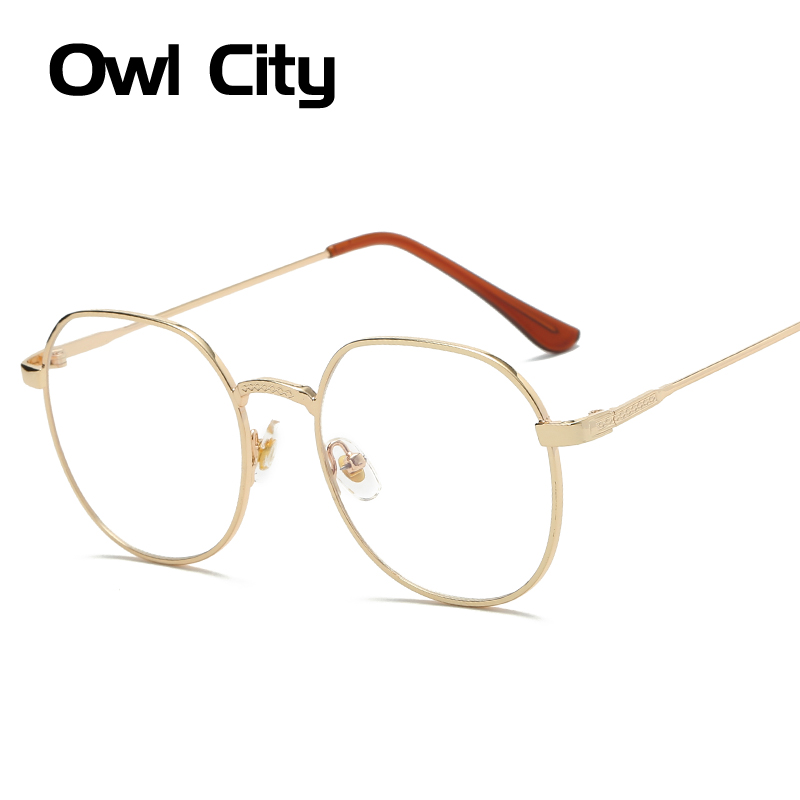 Fashion Gold Metal Frame Eyeglasses For Women Female Vintage Glasses Clear Lens Optical Frames  de grau