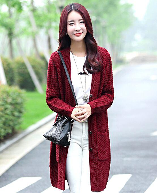 80643ff89d7bf Navidad suéter mujeres Invierno 2016 Nuevo desgaste de las mujeres suelta  nueva manga larga capa del suéter de La Rebeca femenina de punto en  Cardigans de ...