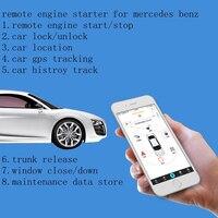 PLUSOBD GSM+GPS Real Time Online Tracking Car Alarm Smartphone Control For Mercedes Benz A B GLA ML G GL Remote Engine Control