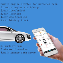 PLUSOBD GSM GPS Real Time Online Tracking Car Alarm Smartphone Control For Mercedes Benz A B