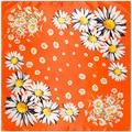 2017 New floral flower small daisy hijab scarfs women cache cou pendant scarves  luxury brand foulard femme hijab A373