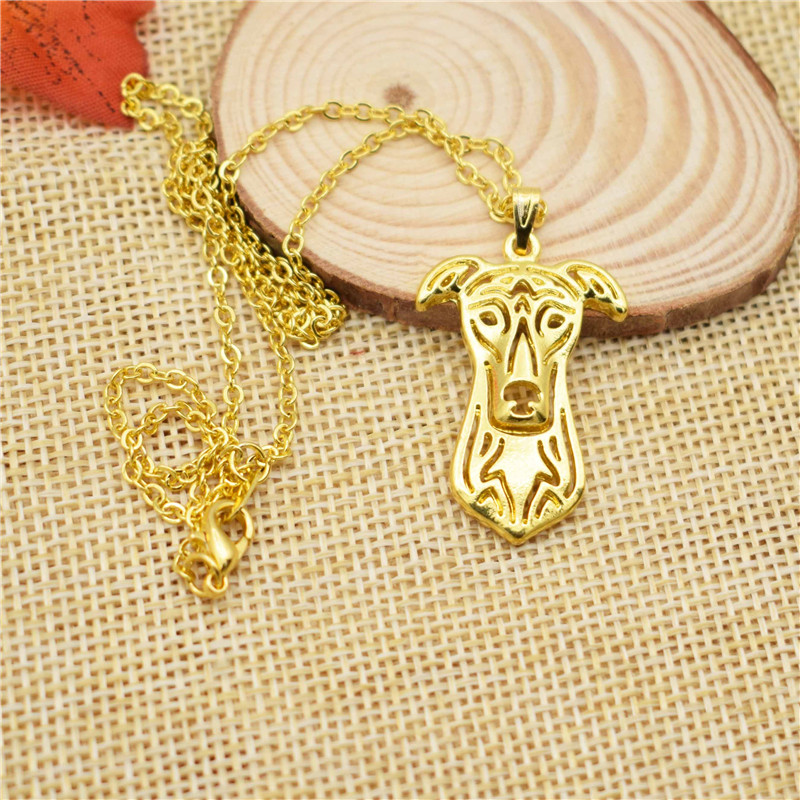 LPHZQH fashion hollow cartoon alloy Greyhound dog choker pendant necklace for Women Jewelry collar gift