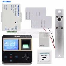 DIYSECUR Fingerprint 125KHz ID Card Reader Electric Drop Bolt Lock Door Access Control System Kit + Door Bell