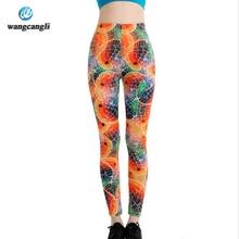 wangcangli top High Waist Quality fitness summer Leggings for Women Milk Digital Print Mermaid Fish Scale