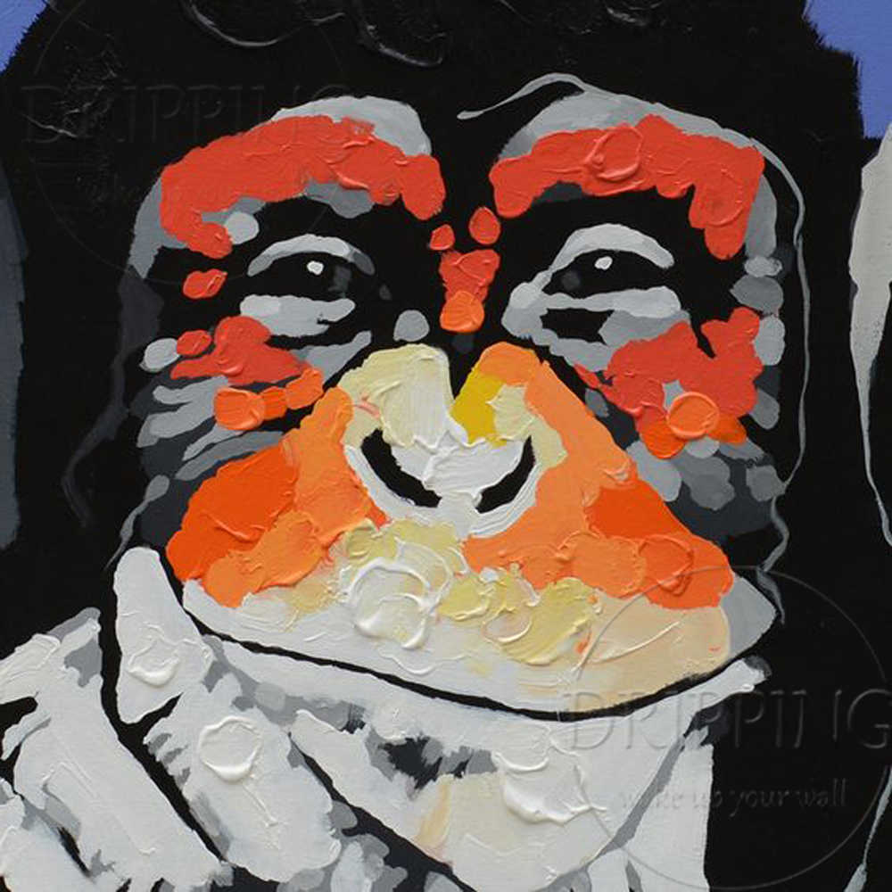 Wall Art Painting Hand Painted High Quality Modern Monkey Listen Music Oil Painting Funny Animal Oil Painting For Wall Decor Art Painting Paintings For Wallmusic Oil Painting Aliexpress,Christmas Decorations Diy Easy