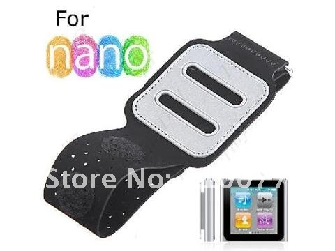 6g 6th Gen Black Neoprene Sports Workout Running Gym Armband Case Obedient 5pcs/lot For Ipod Nano 6