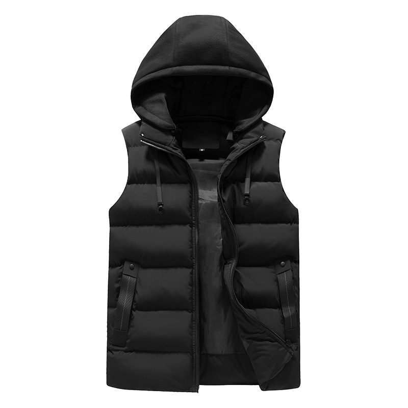 2019 Winter New Thick Hooded Heren Vest Good Quality Waterproof Sleeveless Men Jackets
