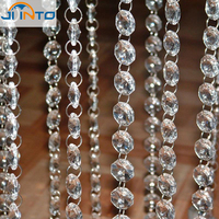 33 FT Crystal Clear Acrylic Bead Garland Chandelier Hanging Wedding Supplies