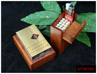 Small Rosewood Box Red Wood Box For Cigarette Holder Business Name Cards Wooden Pocket Case Storage